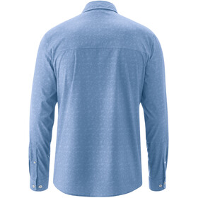Maier Sports Lorcan T-shirt Manches longues Homme, blue allover